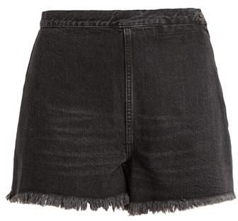 Rachel Comey Ignite high-rise raw-edge denim shorts