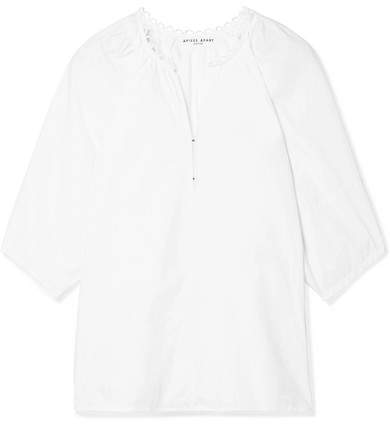Apiece Apart Nova Cotton-poplin Top - White