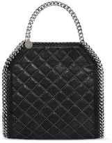 Stella McCartney black falabella studded quilted shaggy deer tiny tote