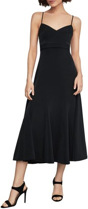 BCBGMAXAZRIA Strappy Midi Fit-&-Flare Dress