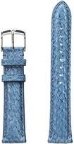 Michele 18mm Seamist Fish Skin Strap Blue Watches