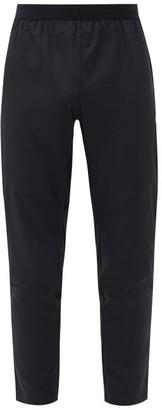 Asics Reflective-print Ripstop Track Pants - Black