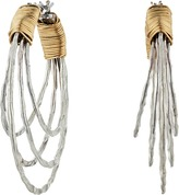 Robert Lee Morris Wire Wrapped Multi Row Hoop Earrings Earring