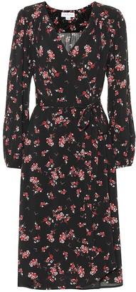 Velvet Pomona floral crApe wrap dress