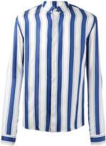 Haider Ackermann striped polo shirt