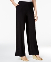JM Collection Petite Pull-On Wide-Leg Crinkle Pants, Created for Macy's