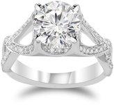 Houston Diamond District 1 Carat t.w. 14K Yellow Gold Round Split Shank Twisting Eternity Diamond Engagement Ring SI2-I1