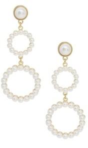 Ettika Night Out Hoop Drop Imitation Pearl Earrings
