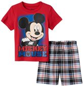 Disney Disney's Mickey Mouse Toddler Boy Tee & Plaid Shorts Set