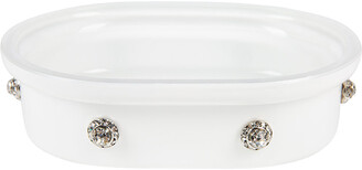 Mike and Ally Mike + Ally - Nova Jewelled Glass Soap Dish - White
