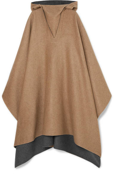 Givenchy Hooded Cashmere Poncho - Camel
