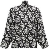 Balenciaga Jacquard-knit Virgin Wool-blend Sweater - Womens - Black White