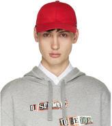 Valentino Garavani Valentino Red Canvas Cap