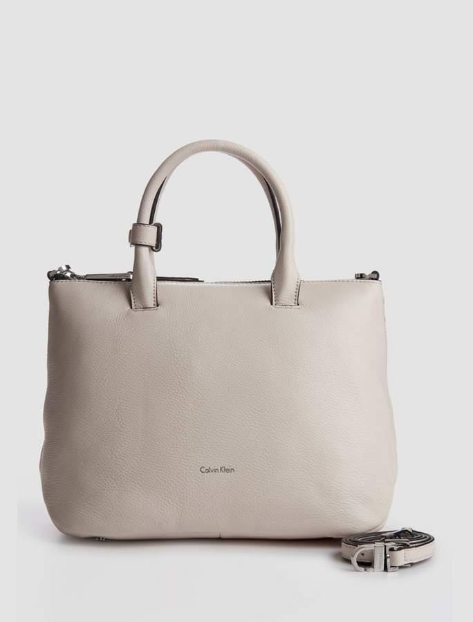 Calvin Klein pebble leather satchel