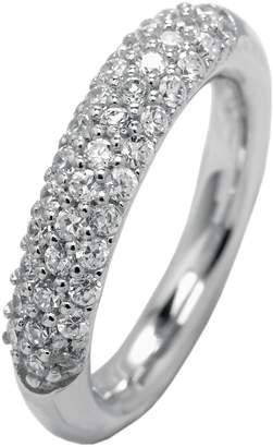 Monti Carlo Women's Ring Rhodium-Plated 925 Sterling Silver with 37 Zirconia White JCM 101-121 5mm White
