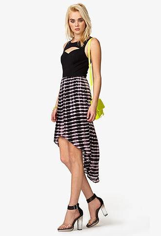 Forever 21 Tie-Dye High-Low Dress
