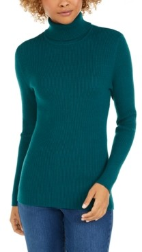 Style&Co. Style & Co Ribbed Turtleneck Sweater, Created for Macy's