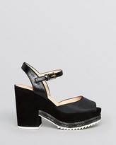 Tory Burch Open Toe Platform Sandals - Brie