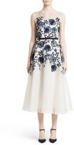 Lela Rose Women's Floral Embroidered Dress