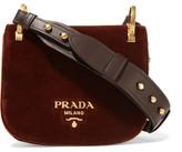 Prada Pionnière Velvet Shoulder Bag - Chocolate