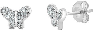 Sabrina Designs 14K Diamond Butterfly Earrings