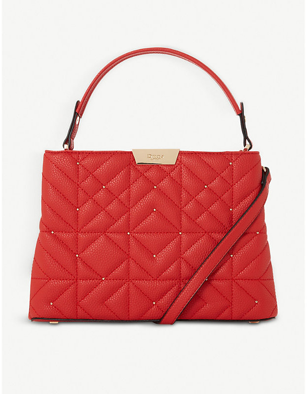 Dune Devangelina quilted faux-leather tote