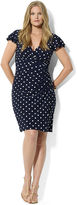 Lauren Ralph Lauren Plus Size Flutter-Sleeve Polka-Dot Dress
