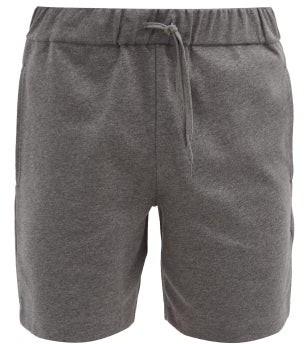 A.P.C. Francois Cotton-jersey Shorts - Grey