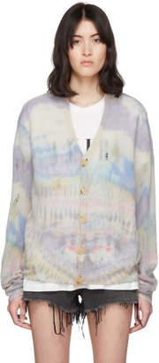 Amiri Multicolor Tie-Dye Cashmere Cardigan