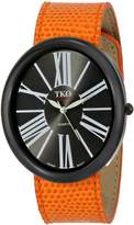 TKO ORLOGI Women's TK617-BOR Dial Orange Leather Slap Watch