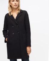 Jigsaw Raw Edge Jersey Coat