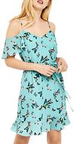 Oasis Butterfly Cold Shoulder Dress, Multi/Blue