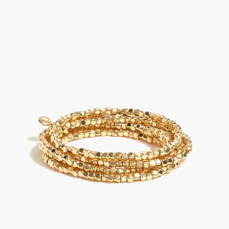 J.Crew Tiny beads stretch bracelets set-of-six