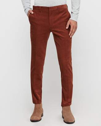 Express Extra Slim Rust Corduroy Suit Pant