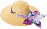 C.C Women's Sunhats wile - Natural & Wild Berry Tie-Dye Bow Sunhat