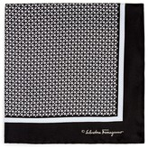 Salvatore Ferragamo Link Print Pocket Square