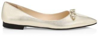 Prada Saffiano Metallic Leather Ballet Flats