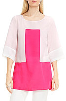Vince Camuto Elbow Sleeve Colorblock Blouse