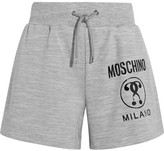 Moschino Printed Stretch-jersey Shorts - Gray