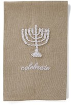 Mud Pie Menorah Hand Towel