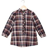 Little Marc Jacobs Girls' Plaid Long Sleeve Top