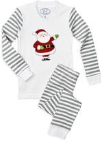 Sara's Prints Unisex Jolly Santa Pajama Set - Little Kid