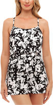 ST. JOHN'S BAY St. John's Bay Dotty Daisy Triple Tier Swimdress