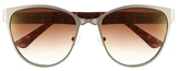 Vince Camuto Brushed-metal Cat-eye Sunglasses