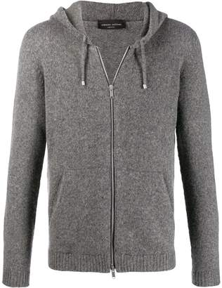 Roberto Collina knitted zip up hoodie