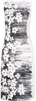 Carolina Herrera side floral shift dress