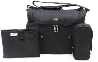 Gr8x Zoe Snowflake Black Baby Bag Black