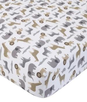 Carter's Cotton Sateen Crib Sheet - Multi Safari Bedding