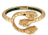 Gucci Dionysus bracelet in yellow gold with tsavorites