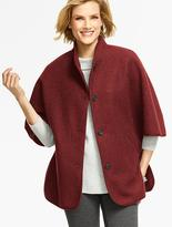 Talbots Stand-Collar Cape